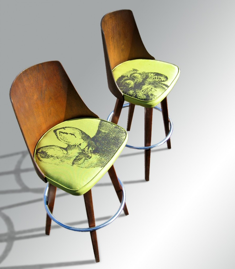 Refurbished bar stools