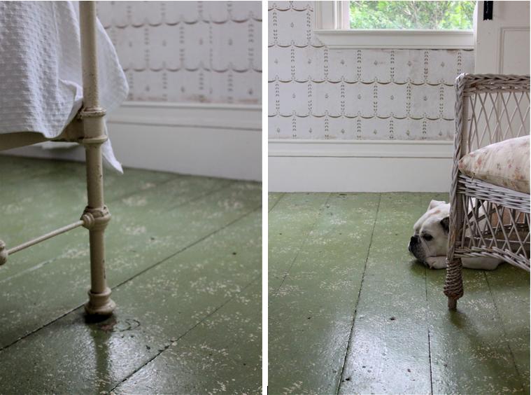 Green Floors painted floors