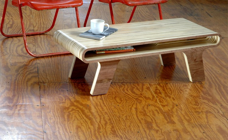plywood office coffee table