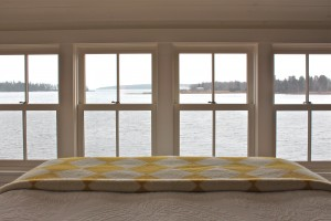 bedroom view - Maine cottage by Sheila Narusawa architects