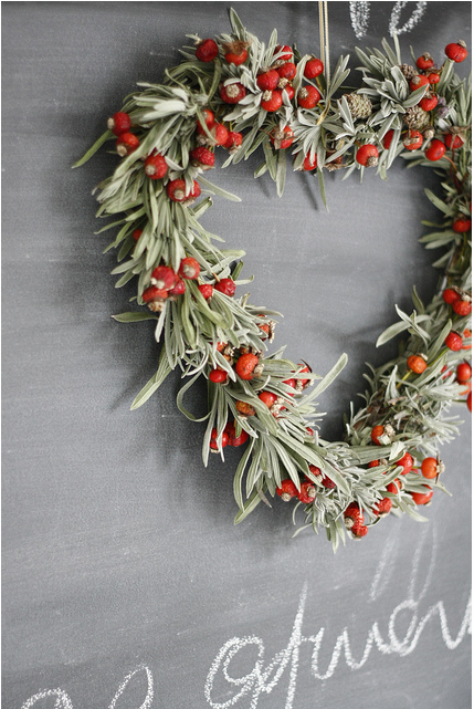Christmas paper flower wreath akbaeenw lavender and rose hip wreath by paper flower girl mightylinksfo