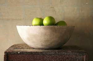 concrete fruit bowl from Obelisk