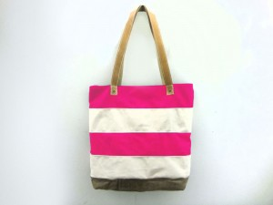 Mclovebuddy striped tote