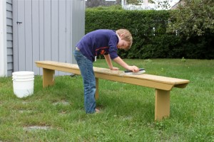Olie washing bench