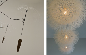 dandelion sculpture and lights