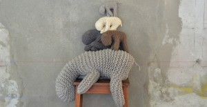 by April and May knit animals