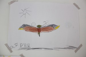 falcon by Oliver, age 7