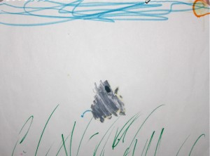leaping rhino by Solvi, age 4