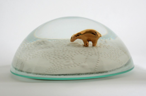 "polar bear ""snow globe"" by Marianne Eggimann"