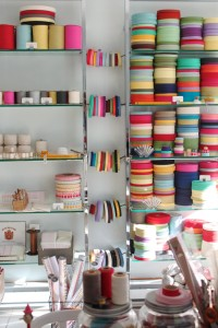floor to ceiling ribbons at studio carta