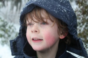 olie in snow