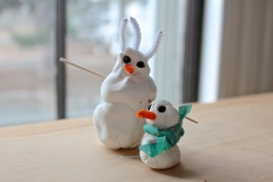 snowman and baby by Oliver and Solvi