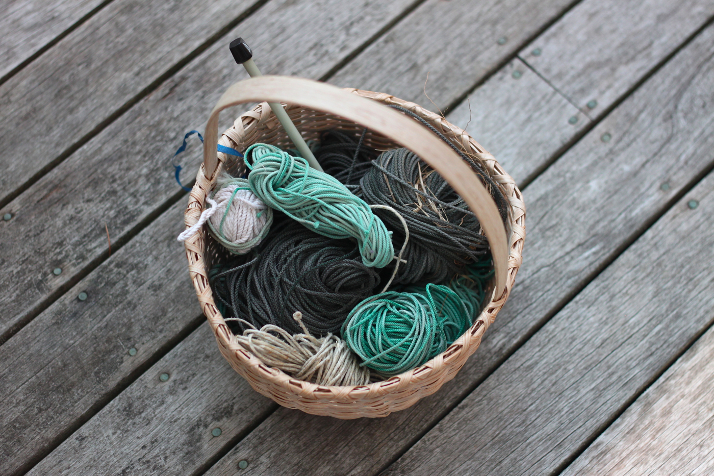 beach twine knits by Marnie Campbell, photo by Justine Hand, coiled twine
