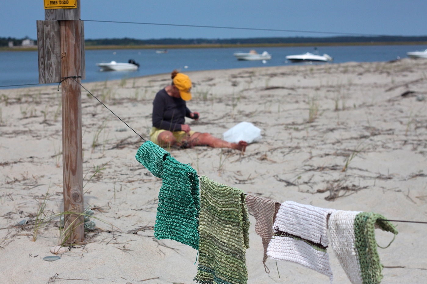 beach twine knits by Marnie Campbell, photo by Justine Hand some knits at beach
