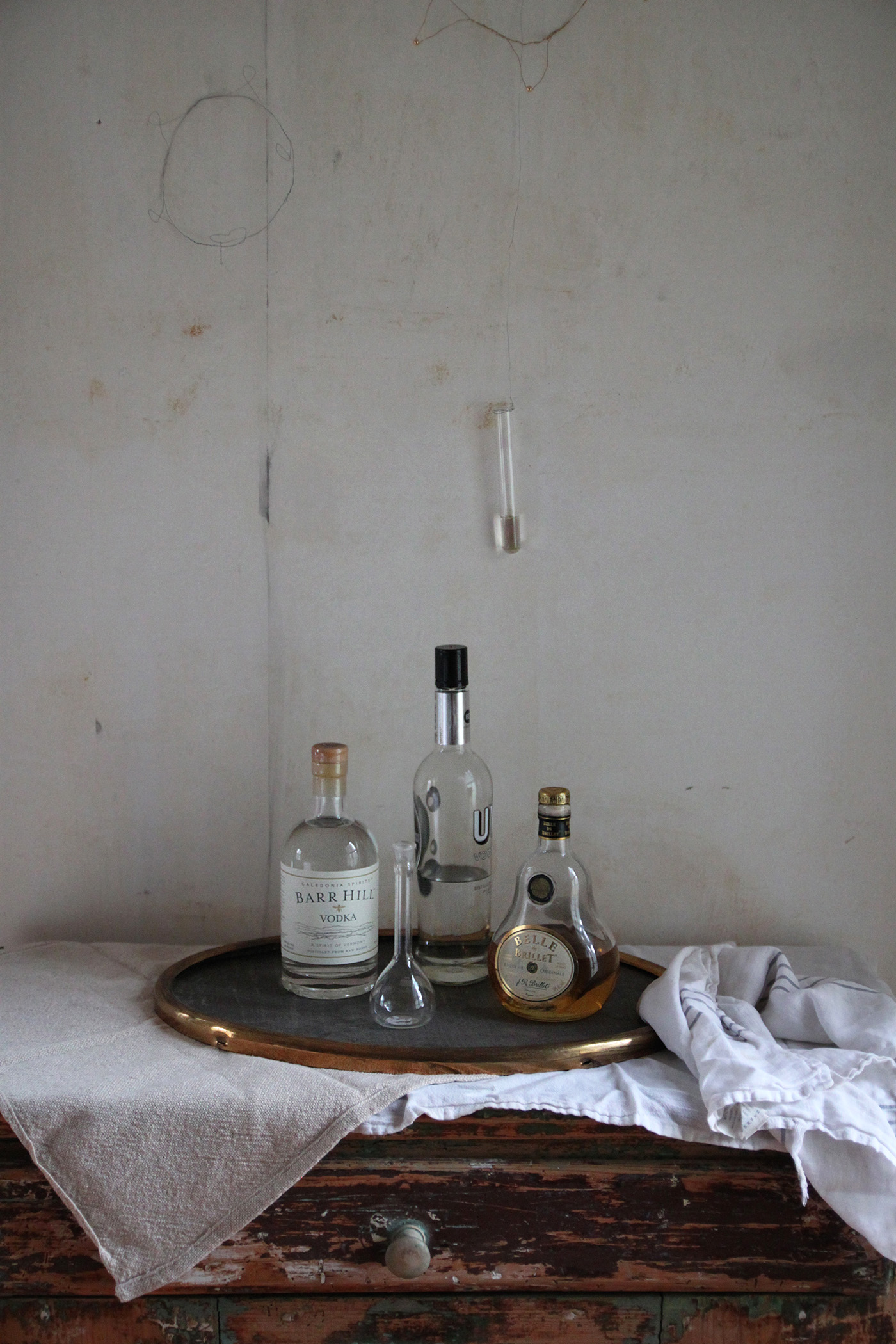 Halloween table with Black Leaves, bar, by Justine Hand for Remodelista