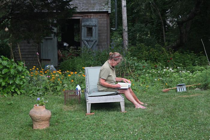 Marnie in her garden