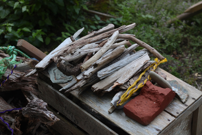 Marnie's Garden by Justine Hand, driftwood