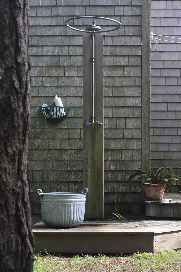 Marnies garden outdoor shower