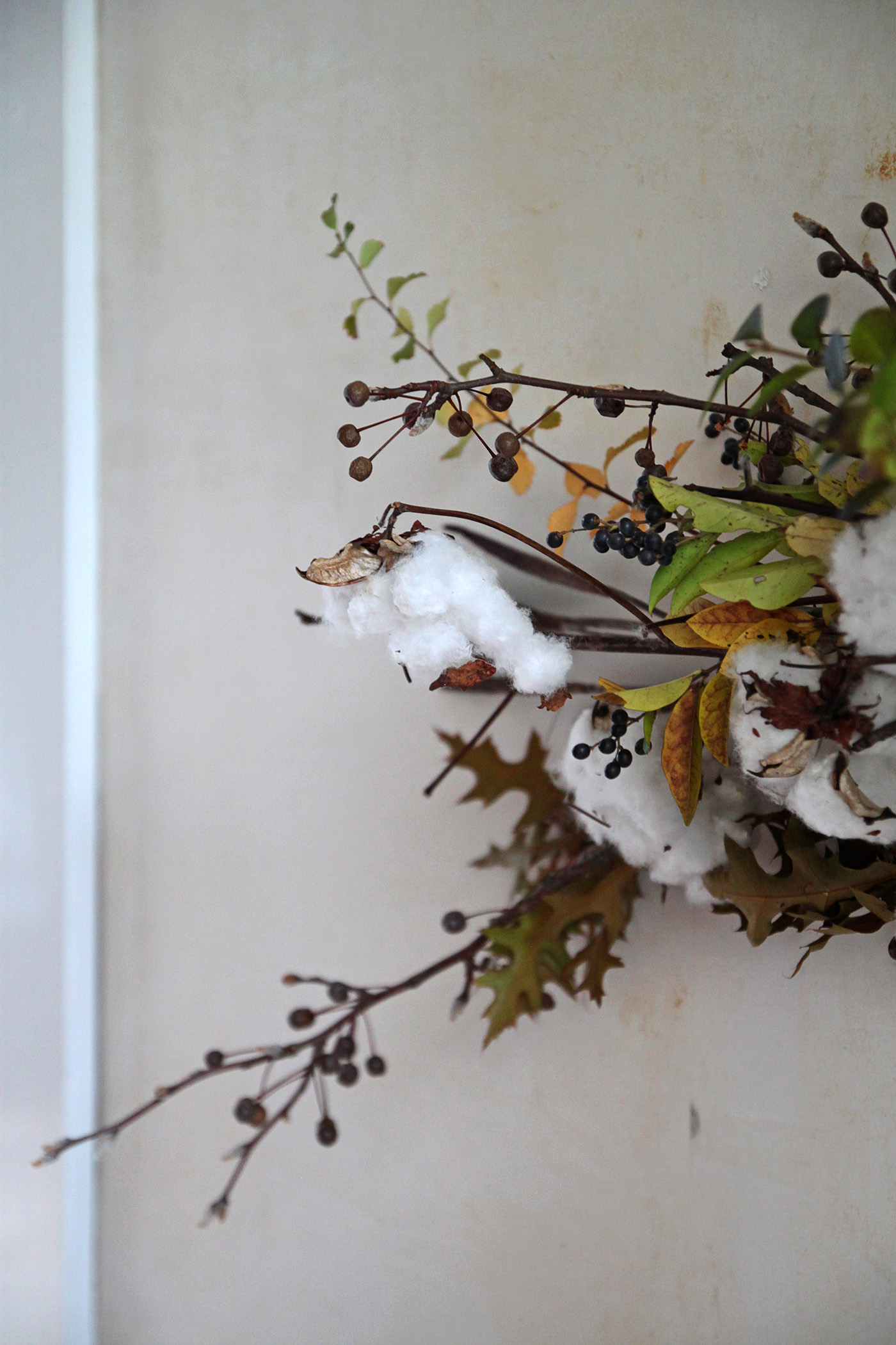DIY Cotton Garland, detail 4, by Justine Hand for Gardenista
