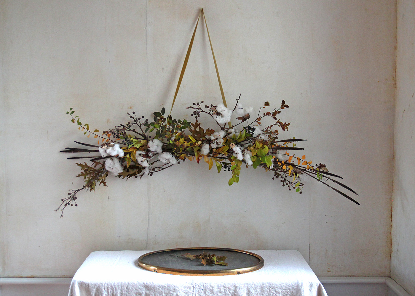 DIY Cotton Garland, final, by Justine Hand for Gardenista