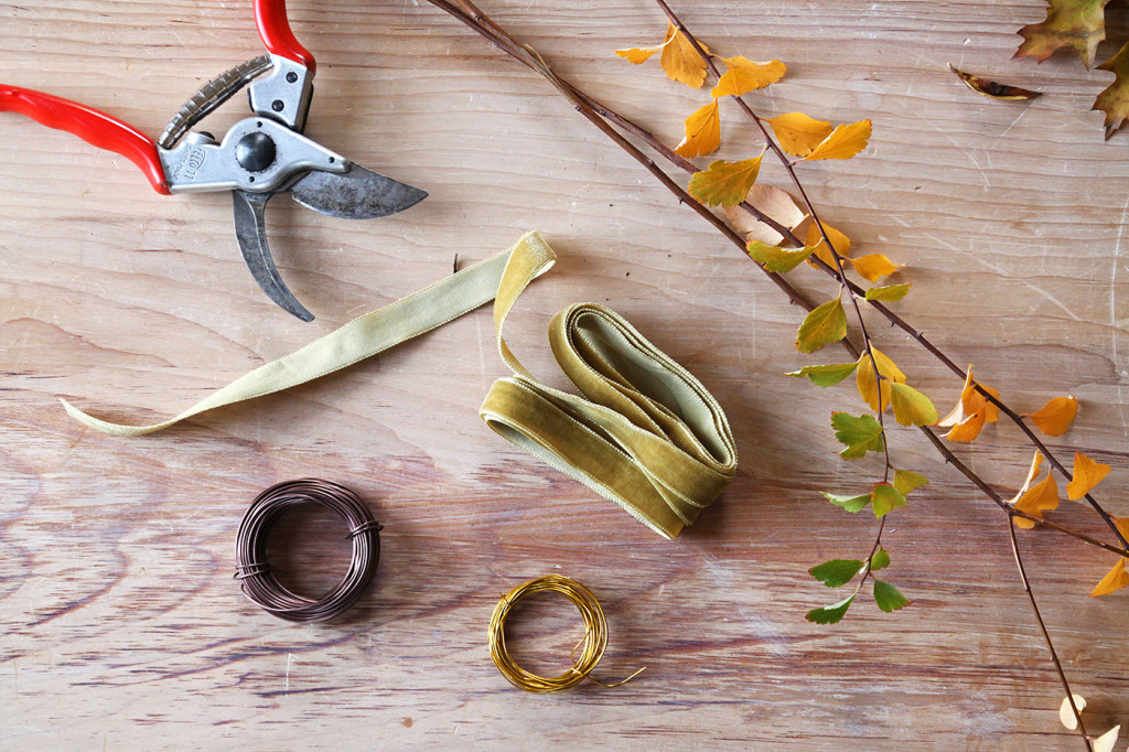 DIY Cotton Garland, tools and supplies, by Justine Hand for Gardenista
