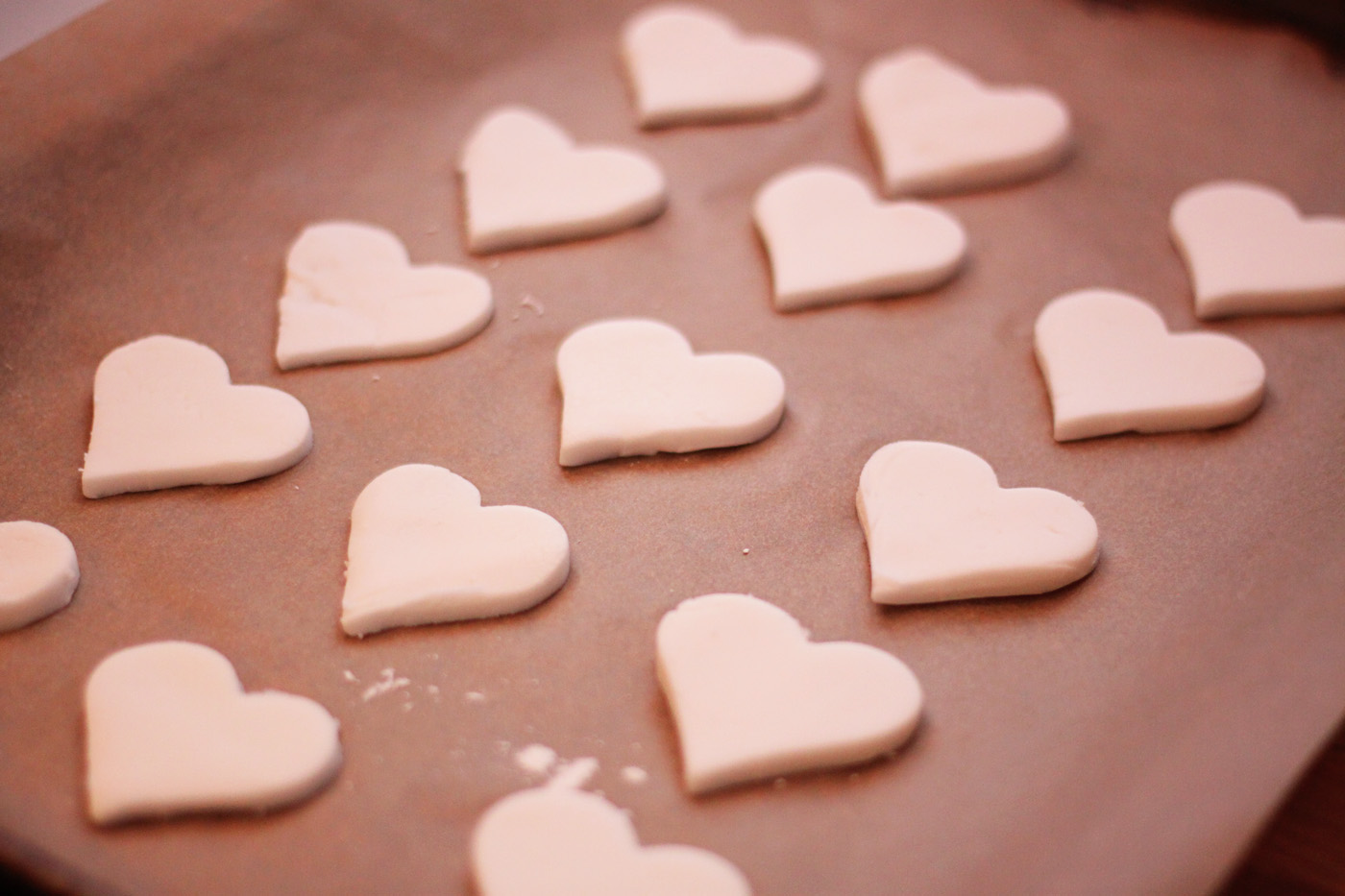 playdough hearts prebaking