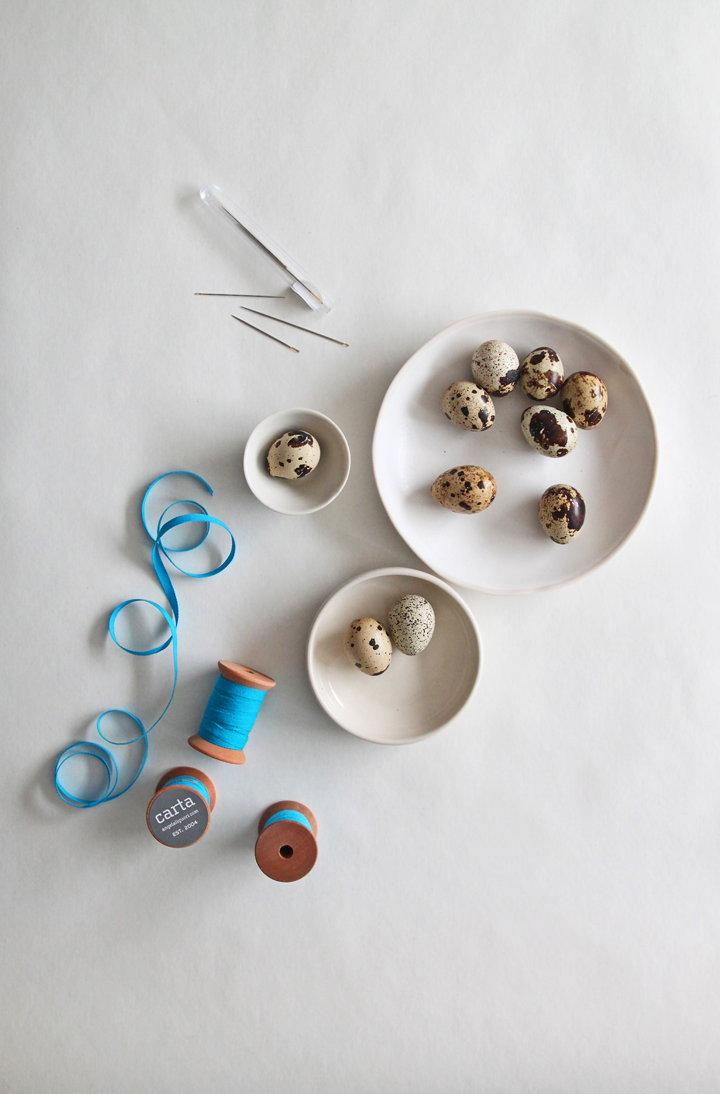 DIY Peacock and Quail Easter Egg Ornaments, supplies, by Justine Hand and Angela Liguori