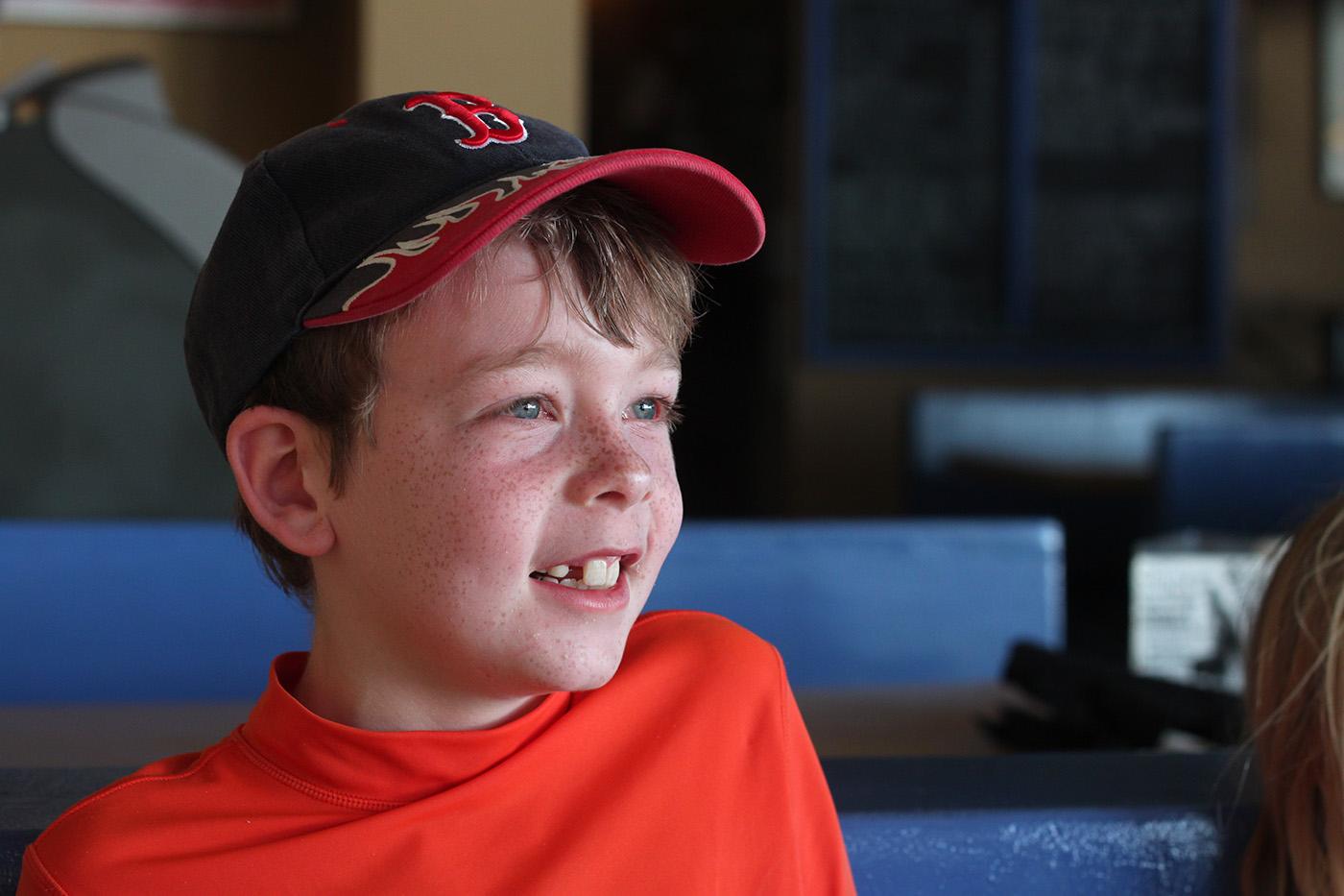 happy Boston boy in Vieques