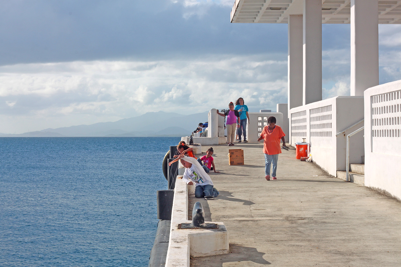 kids fishing, vieques
