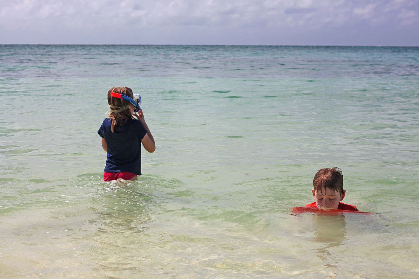 swimming on Vieques