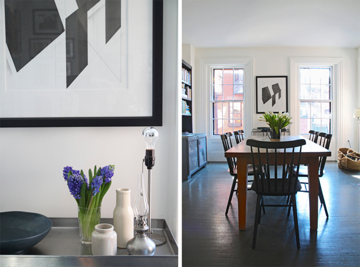 Jeffrey and Cheryl Katz Beacon Hill Home, kitchen dining, by Justine Hand for Remodelista