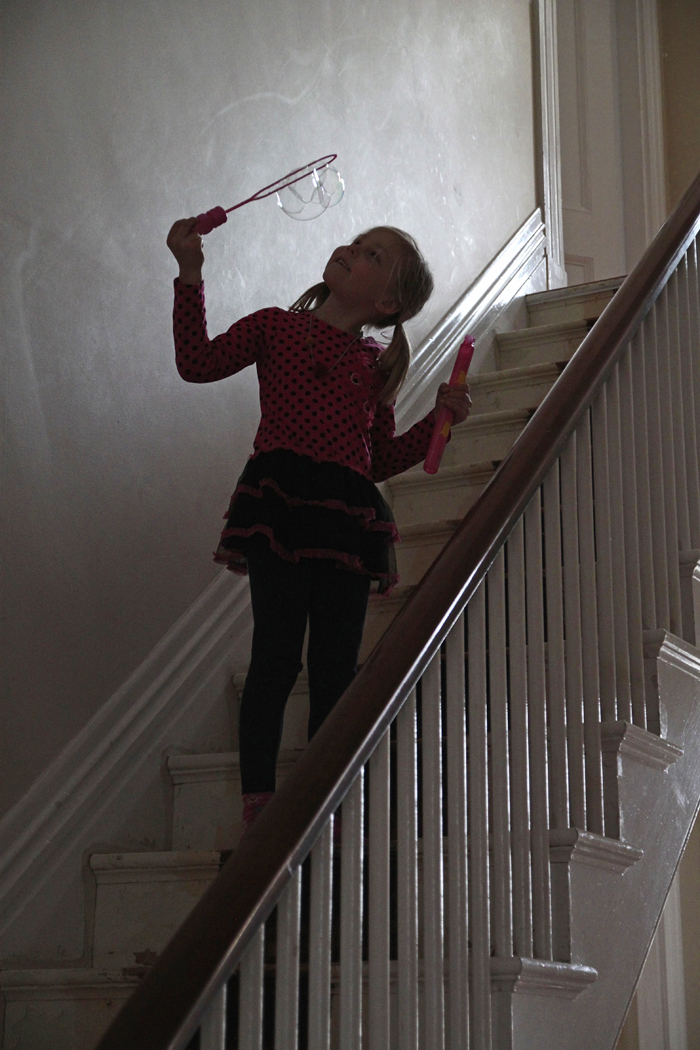 bubbles on the stairs 2