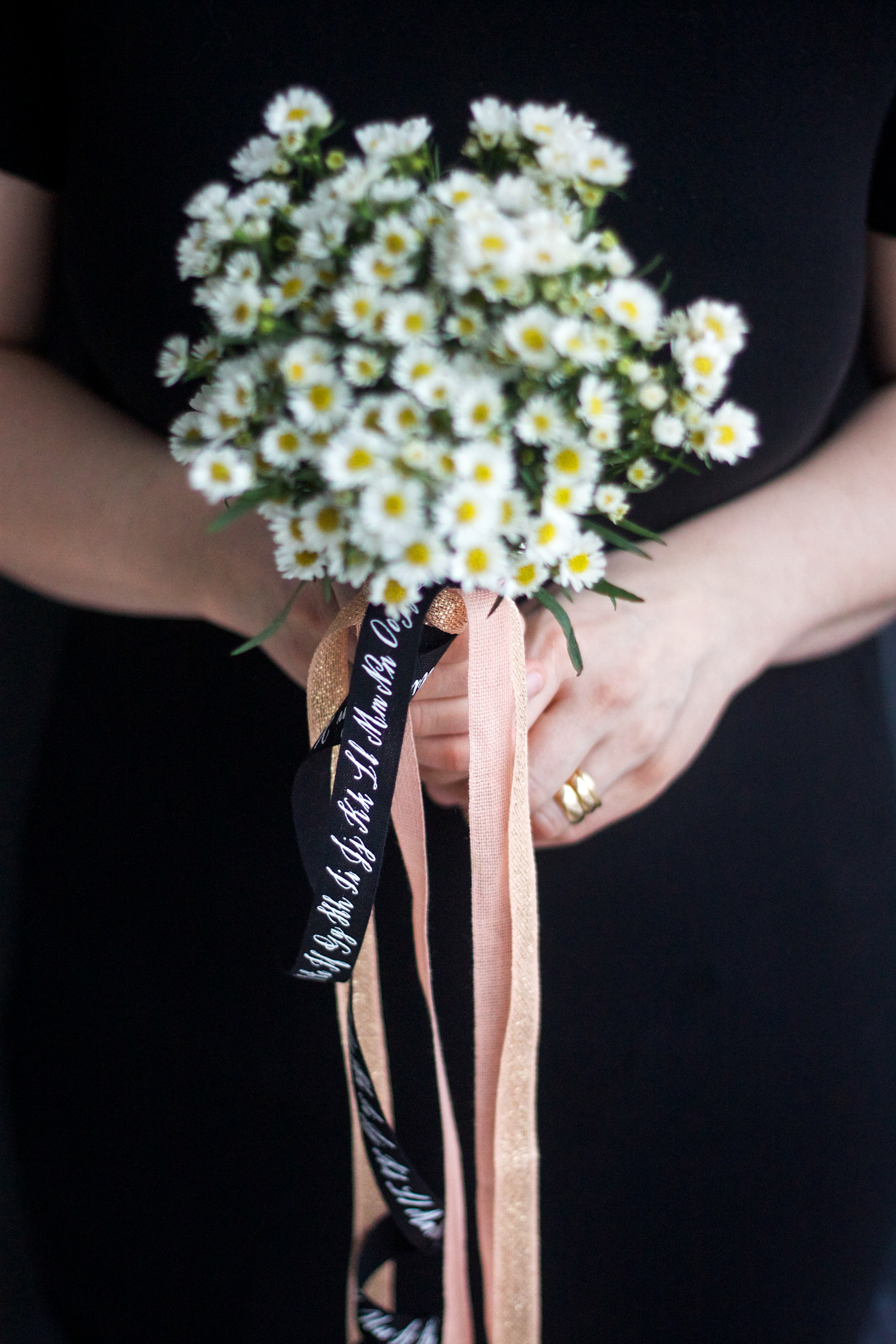 simple posy with Studio Carta ribbon, by Justine Hand