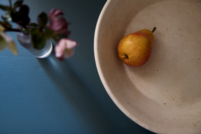 F&B Inchyra Blue pantry with pear, Remodelista